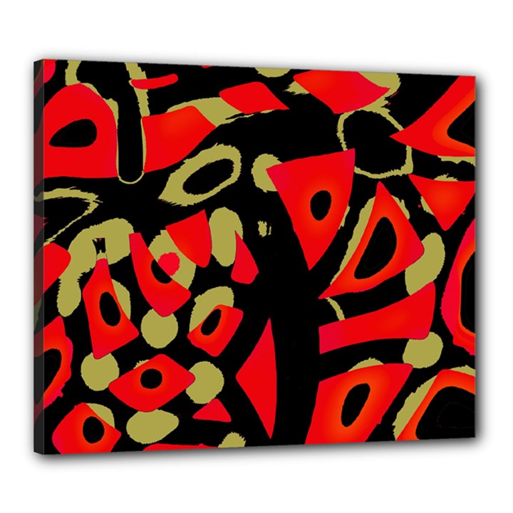 Red artistic design Canvas 24  x 20