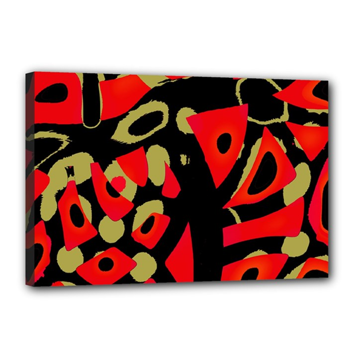 Red artistic design Canvas 18  x 12