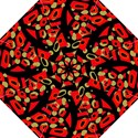 Red artistic design Straight Umbrellas View1