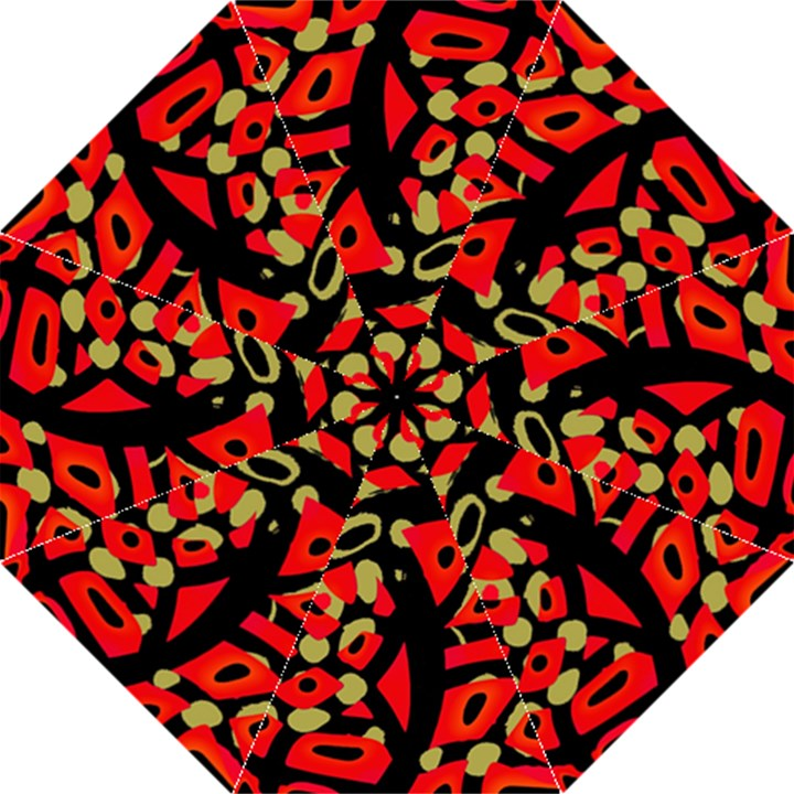 Red artistic design Straight Umbrellas