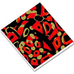 Red artistic design Small Memo Pads