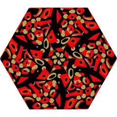 Red artistic design Mini Folding Umbrellas