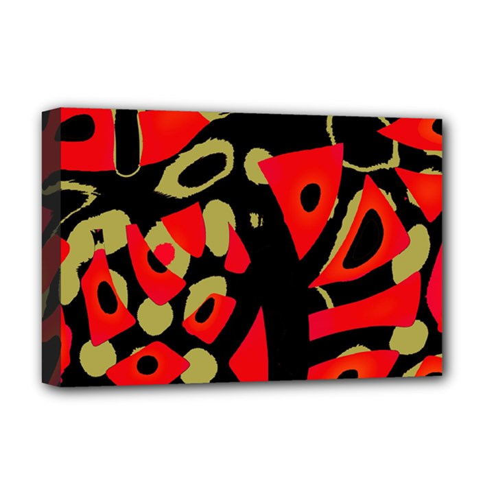 Red artistic design Deluxe Canvas 18  x 12