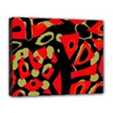 Red artistic design Deluxe Canvas 20  x 16   View1