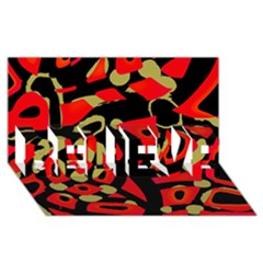 Red artistic design BELIEVE 3D Greeting Card (8x4)