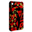 Red artistic design Apple iPhone 3G/3GS Hardshell Case View2