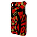 Red artistic design Apple iPhone 3G/3GS Hardshell Case View3