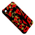 Red artistic design Apple iPhone 3G/3GS Hardshell Case View5