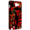 Red artistic design Samsung Galaxy Note 1 Hardshell Case View2