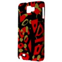 Red artistic design Samsung Galaxy Note 1 Hardshell Case View3