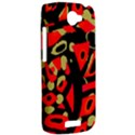 Red artistic design HTC One S Hardshell Case  View2