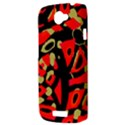 Red artistic design HTC One S Hardshell Case  View3