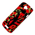 Red artistic design HTC One S Hardshell Case  View4