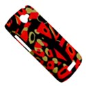 Red artistic design HTC One S Hardshell Case  View5
