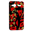 Red artistic design HTC Radar Hardshell Case  View2