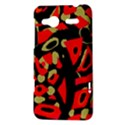 Red artistic design HTC Radar Hardshell Case  View3