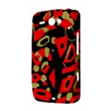 Red artistic design HTC ChaCha / HTC Status Hardshell Case  View3