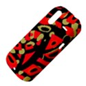 Red artistic design HTC Amaze 4G Hardshell Case  View4