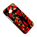 Red artistic design HTC Droid Incredible 4G LTE Hardshell Case View5