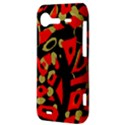 Red artistic design HTC Incredible S Hardshell Case  View3