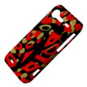 Red artistic design HTC Incredible S Hardshell Case  View4