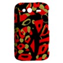 Red artistic design HTC Wildfire S A510e Hardshell Case View2