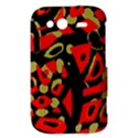 Red artistic design HTC Wildfire S A510e Hardshell Case View3