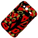 Red artistic design HTC Wildfire S A510e Hardshell Case View4