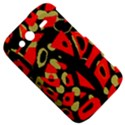 Red artistic design HTC Wildfire S A510e Hardshell Case View5