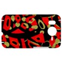 Red artistic design HTC Desire HD Hardshell Case  View1