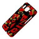 Red artistic design HTC Desire HD Hardshell Case  View4