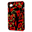 Red artistic design Samsung Galaxy Tab 7  P1000 Hardshell Case  View3