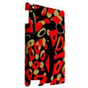 Red artistic design Apple iPad 2 Hardshell Case View2