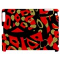 Red artistic design Apple iPad 2 Hardshell Case (Compatible with Smart Cover) View1
