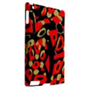 Red artistic design Apple iPad 2 Hardshell Case (Compatible with Smart Cover) View2