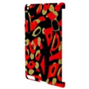 Red artistic design Apple iPad 2 Hardshell Case (Compatible with Smart Cover) View3