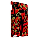 Red artistic design Apple iPad 3/4 Hardshell Case View2
