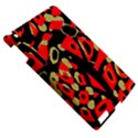 Red artistic design Apple iPad 3/4 Hardshell Case View5