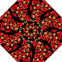 Red artistic design Hook Handle Umbrellas (Small) View1