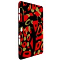Red artistic design Samsung Galaxy Tab 10.1  P7500 Hardshell Case  View2