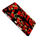 Red artistic design Samsung Galaxy Tab 10.1  P7500 Hardshell Case  View5