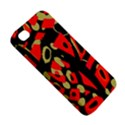 Red artistic design Apple iPhone 4/4S Premium Hardshell Case View5