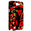 Red artistic design Samsung Galaxy Note 2 Hardshell Case View2