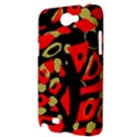 Red artistic design Samsung Galaxy Note 2 Hardshell Case View3