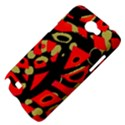Red artistic design Samsung Galaxy Note 2 Hardshell Case View4