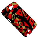 Red artistic design Samsung Galaxy Note 2 Hardshell Case View5