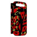 Red artistic design Samsung Galaxy S III Hardshell Case (PC+Silicone) View2