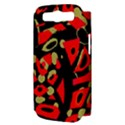 Red artistic design Samsung Galaxy S III Hardshell Case (PC+Silicone) View3
