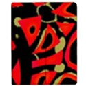 Red artistic design Apple iPad Mini Flip Case View1
