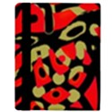 Red artistic design Apple iPad Mini Flip Case View3